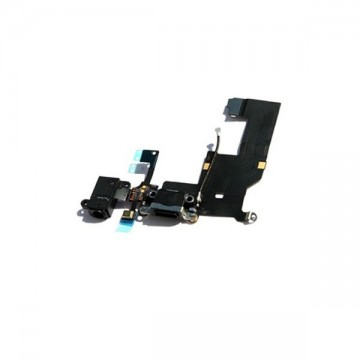 Cable Flex Conector carga, Audio Jack y Micrófono iPhone 5 Negro