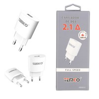 Cargador /Adaptador de Red 2.1A Blanco