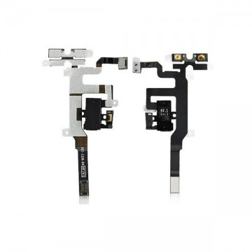 Cable Flex Audio y Jack iPhone 4S Negro